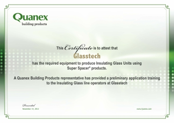 Certificate from Quanex